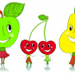Royalty-Free Stock Vector Image: Cartoon fruit characters.