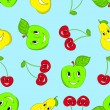 Royalty-Free Stock Vector Image: Seamless cartoon fruit background