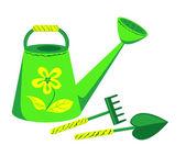 Garden tools. — Stock Vector