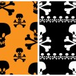 Royalty-Free Stock Vector Image: Skull seamless patterns.