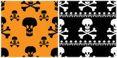 Skull seamless patterns. — Stock Vector