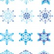 Stock Vector: Crystal modulation of snowflake