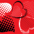 Royalty-Free Stock Vector Image: Red heart is black.