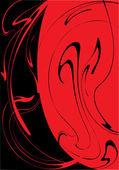 Es divorcios negros rojos — Vector de stock