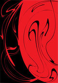 It is red black divorces — Stock Vector