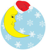 Christmas half moon — Stock Vector