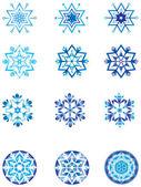 1 雪の結晶の水晶変調. — ストックベクタ