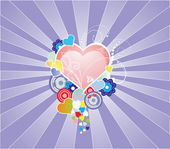 Colour hearts — Vetorial Stock