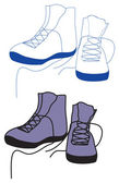 Sports boots — Stock Vector