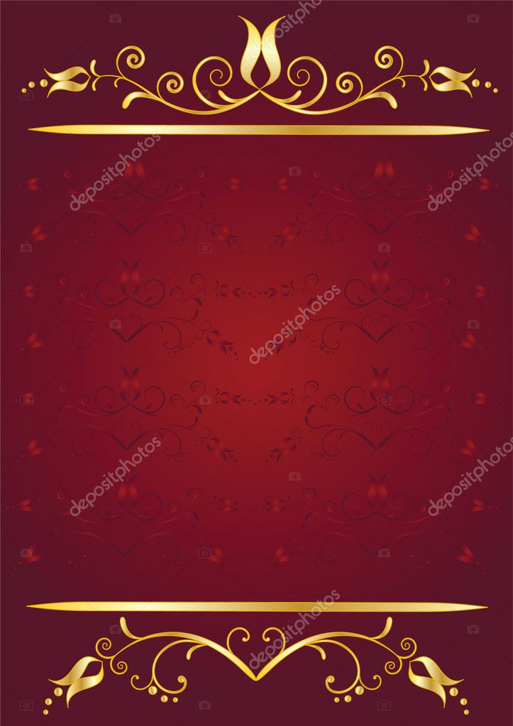 Congratulation card. Floral background. Vector illustration.  Stock Vector #2717657