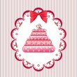 Royalty-Free Stock Vector Image: Congratulation card with cake.