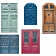 Old wooden doors - Stock Photo