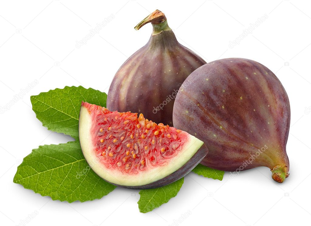 Fresh figs isolated on white — Stock Photo #3897361