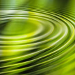 Stock Photo: Green water ripple