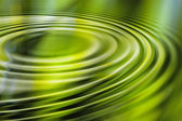Green water ripple — Stock Photo