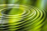 Groen water rimpel — Stockfoto