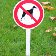 Stock Photo: Sign prohibition for walk dogs