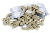 Kapslar med medicin och tabletter — Stockfoto