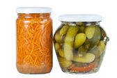 Pickled cucumbers and carrots — Stock Photo