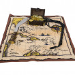 Pirate Map and Treasure - Stock Photo