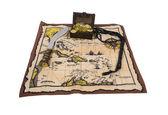 Pirate Map and Treasure — Stock Photo