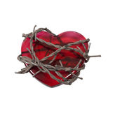 Barbed Wire around Heart — Stock Photo
