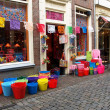 Small shop with pails - Foto de Stock