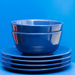 Stock Photo: Plates and bowls