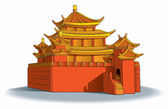 Chinese pagoda — Stock Vector