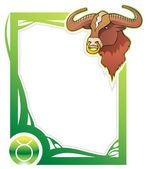 Zodiac frame series: Taurus — Stock Vector