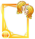 Zodiac frame series: Gemini — Stock Vector