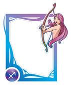 Zodiac frame series: Sagittarius — Stock Vector