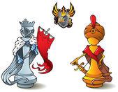 Chess set: Kings — Stock Vector