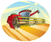 Harvesting machine — Stock Vector