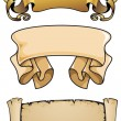 Set of three scrolls — Stock Vector