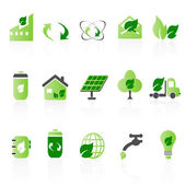 Green icon sets — Wektor stockowy