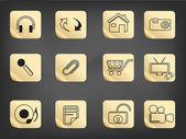 Simple icon drew on sticker — Stock Vector