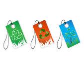Recykling tagi — Wektor stockowy