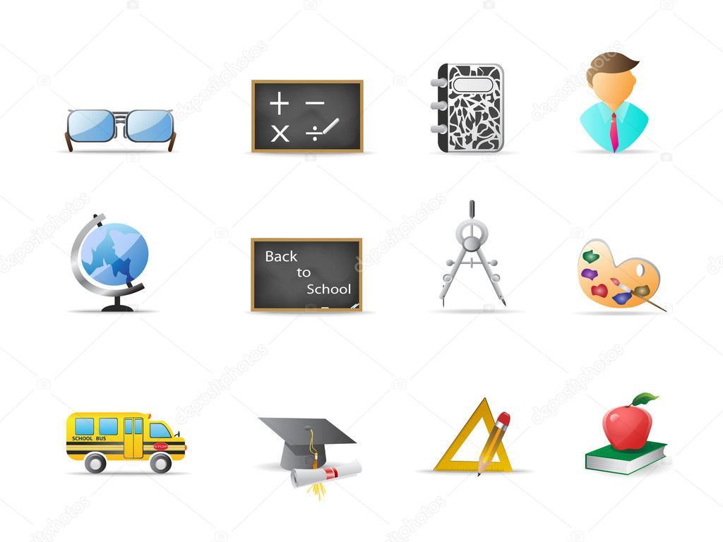 Some education icons for design — Stock Vector #3722086