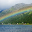 Rainbow over the bay — Stock Photo