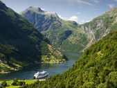 Geiranger fjord landscape — Stock Photo