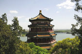 Building pattern of summer palace — Stock Photo