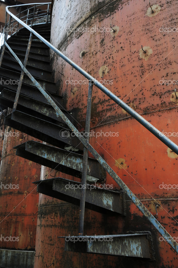 Ladder of oil tank  Stock Photo #3107992