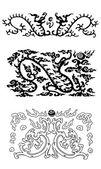 Fire dragon pattern of china — Stock Photo