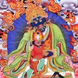 Fire god Buddhism painting artwork of tibet — ストック写真
