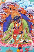 Fire god Buddhism painting artwork of tibet — Stock Photo