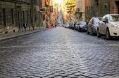 Calle en la mañana de roma — Foto de Stock