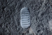 Footprint on the moon — Stock Photo