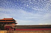 Cloudscape s starobylé budovy — Stock fotografie