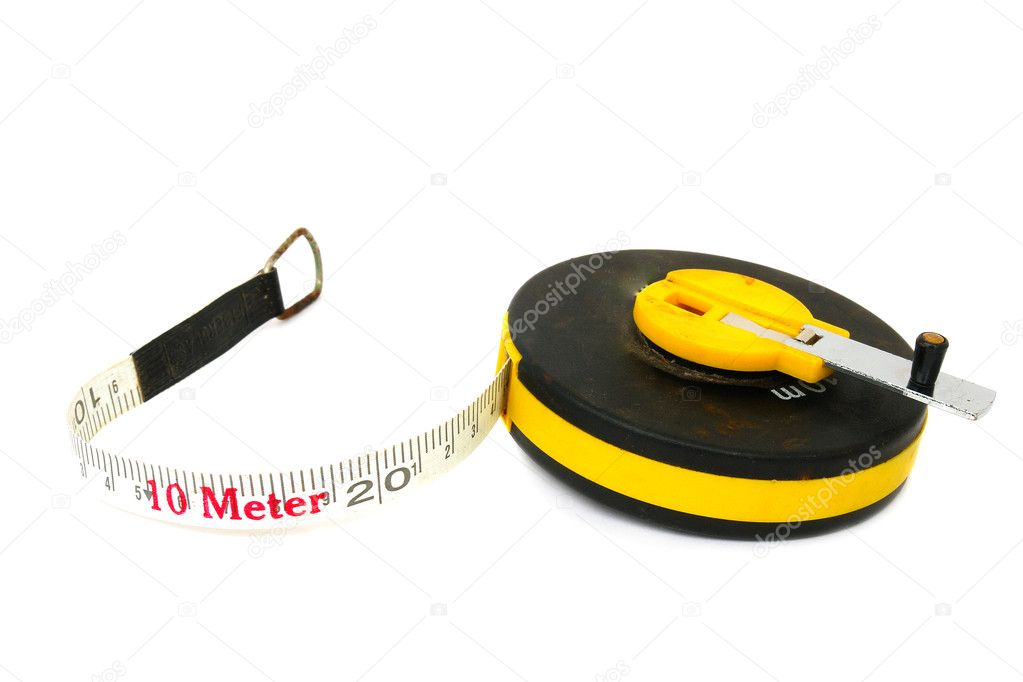 Measuring tool a roulette isolated on a white background                                — Stock Photo #3801754
